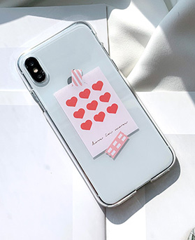 1048677 - <FI233_DM07> heart memo iphone compatible case