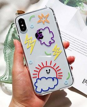 1048688 - <FI234_DM07> rainbow decoration iphone compatible case