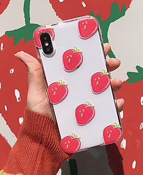 1048693 - <FI240_DM07> strawberry strawberry iphone compatible case