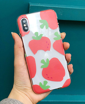 1048694 - <FI241_DM07> strawberry Byte iPhone compatible case