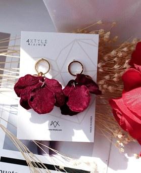1048703 - <ER2122_CH24> Velvet floral earrings