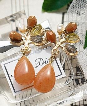 1048704 - <ER2123_DB05> [handmade] Pauline tree earrings