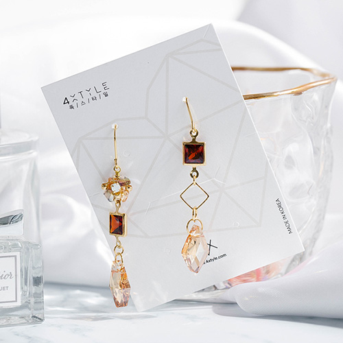 1048726 - <ER2133_DI22> [handmade] Effie crystal earrings