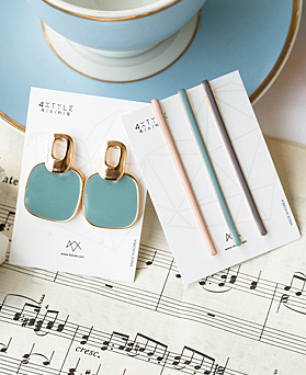 1048771 - [earrings + hairpin] modern Color set