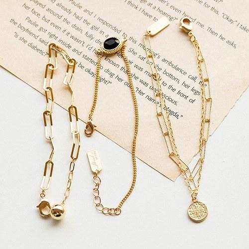 1048773 - <BC798_HB05> Goldie chain bracelet