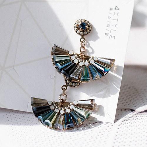 1048822 - <ER2134_DB20> [clip type] [handmade] bohemian song earrings