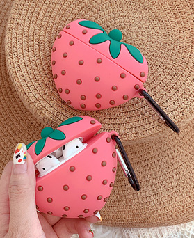 1048841 - <AP0427> sweet Pink Strawberry AirPods compatible case