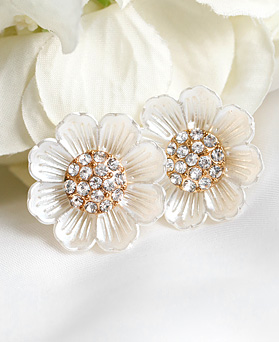 1048873 - <ER2120_IH07> [clip type] Linen Flower earrings