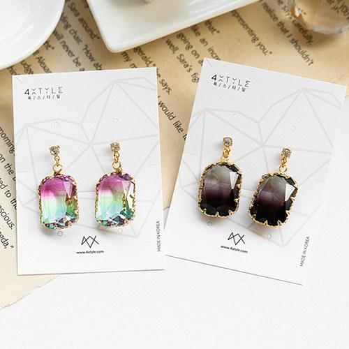 1048905 - <ER2145_DC28> [Handmade] [Silver Post] Amon crystal earrings