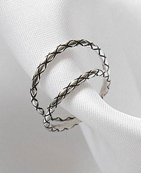 1048907 - <RI865_AA08> [2Piece 1set] [Silver] chic Patterns ring