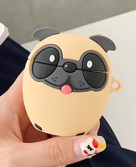 1048934 - <AP0451> Dog Bulldog AirPods Compatible with Case