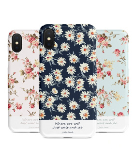 1048957 - <IP0035> Flower Patterns Illustrated iPhone compatible case
