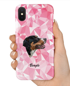 1048958 - <IP0036> Pink Dog iPhone Compatible Case