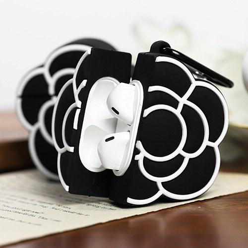 1048989 - <AP0468> black line Flower AirPods compatible case