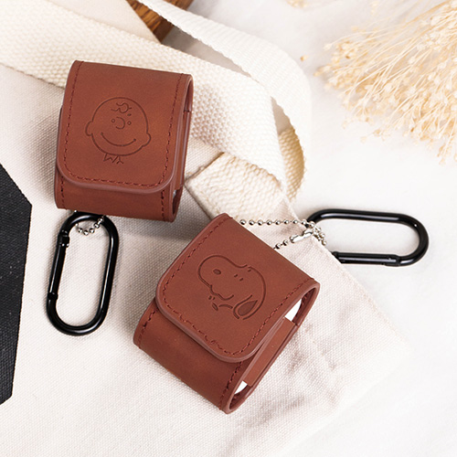 1048992 - <AP0470> Brown leather AirPods compatible case