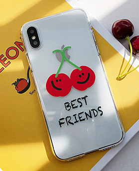 1048996 - <IP0043> BEST Friend Cherry iPhone compatible case