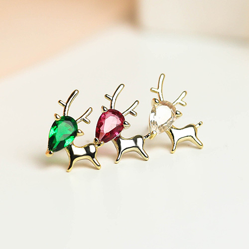 1049003 - <ER2162_DE30> Color rudolph earrings