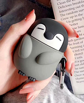1049033 - Gray Penguin AirPods Compatible Case