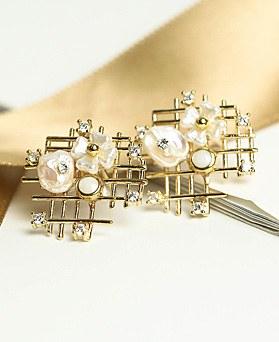 1049034 - <ER2153_DE27> honey Flower earrings