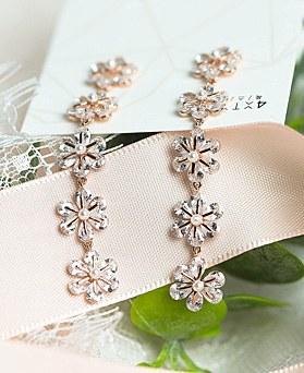 1049040 - <ER2170_CF06> [Silver Post] Rossi Flower long earrings