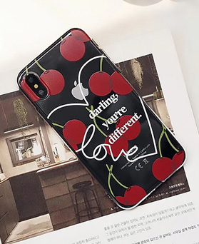 1049045 - <IP0051> unique Cherry lettering iPhone compatible case