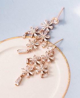 1049050 - <ER2151_DI13> [clip type] Chandelier Flower earrings