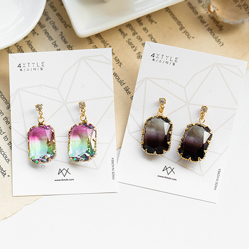 1049051 - <ER2145_DC28> [clip type] [Handmade] Amon crystal earrings