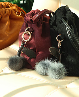 1049058 - <AP0474> [handmade] Cherry fox bag charm key ring