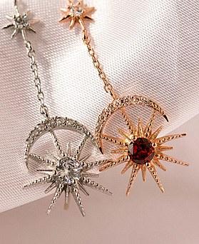 1049060 - <ER2147_DD30> clip earring sunny shine long earrings