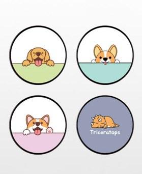 1049068 - <GR037> Fun Fern Animals Illustration SmartTalk