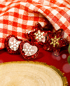 1049074 - <ER2165_CC12> bling snow earrings