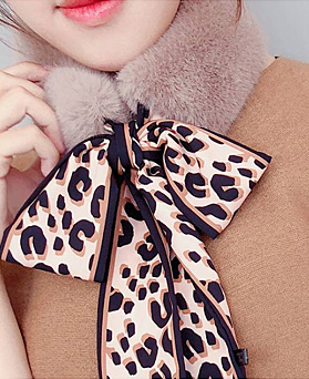 1049081 - <FI265_모자수량> Twilly Leopard Fur muffler