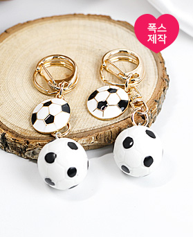 1049086 - <AP0481> [handmade] petit soccer ball key ring