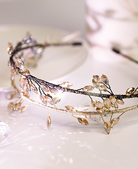 1049109 - <HA740_EG02> crystal Leaf hairband