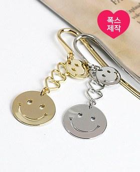 1049133 - <BK080> [handmade] twin smile Bookmark