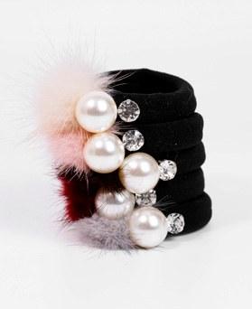1049156 - <HA746_EA05> Winter Fur pearl ponytail
