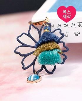 1049160 - <BK081> [handmade] My Flower tassel Bookmark