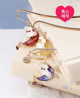1049162 - <BK083> [handmade] lovely moon rabbit bookmarks