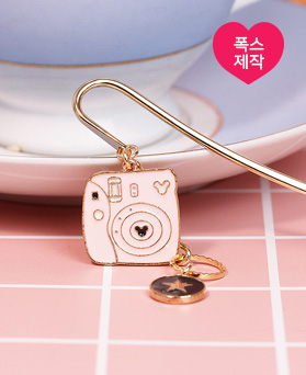 1049171 - <BK085> [handmade] Pink Polaroid Bookmark