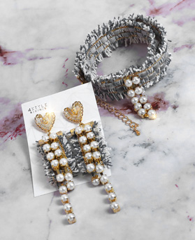 1049182 - <JS344_IG01> [earrings + necklace] Wishing pearl set