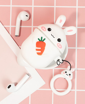 1049193 - <AP0515> Rabbit and Carrot AirPods Compatible Case