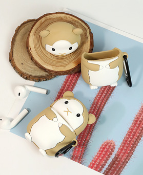 1049194 - <AP0516> Beige Hamster AirPods Compatible Case