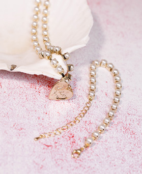 1049197 - <NE579_IF13> lovely pearl line necklace