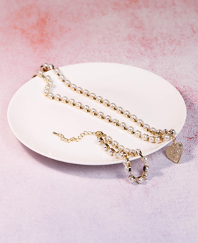 1049199 - <JS345_IF13> [necklace + bracelet] lovely pearl line set