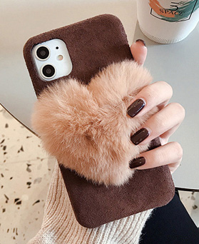 1049209 - <IP0061> Winter heart Fur iPhone compatible case