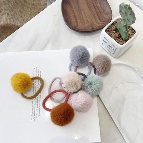 1049218 - <HA749_EC08> pompom Fur ponytail