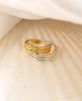 1049221 - <EC130_DD14> [Sold individually] [Silver] 3 line daily ear cuffs