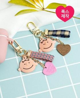1049228 - <AP0524> [handmade] check heart Boy Key Ring