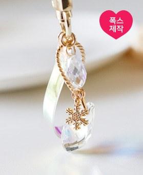 1049229 - <AP0525> [handmade] hologram snow crystal key ring