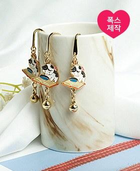 1049237 - <BK090> [handmade] lovely Books cat Bookmark